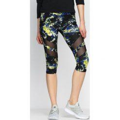 Spodnie damskie: Żółte Legginsy Soundscape
