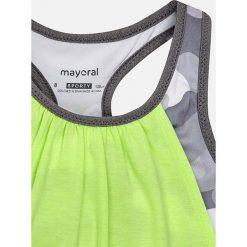 Mayoral - Top sportowy dziecięcy 128-167 cm. Zielone t-shirty dziewczęce Mayoral, z dzianiny, bez rękawów. Za 89,90 zł.