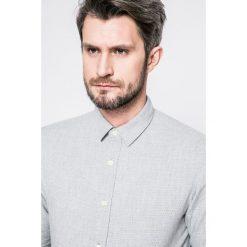 Selected - Koszula. Szare koszule męskie na spinki marki Selected, l, z bawełny, z klasycznym kołnierzykiem, z długim rękawem. W wyprzedaży za 119,90 zł.