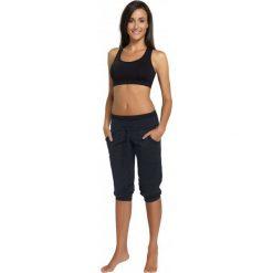 Spodnie dresowe damskie: Gwinner Spodenki Loose Sport Capri Nair czarne r. S