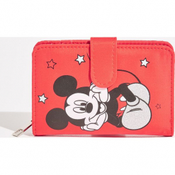 Portfel Mickey Mouse - Czerwony. Czerwone portfele damskie Sinsay, z motywem z bajki. Za 29,99 zł.