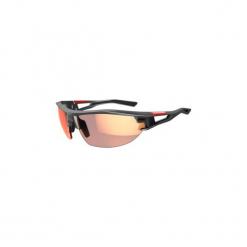 Okulary przeciwsłoneczne na rower fotochromowe XC 120 kategoria od 1 do 3. Czarne okulary przeciwsłoneczne damskie lenonki ORAO, z gumy. Za 119,99 zł.