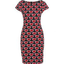 Love Moschino Sukienka z dżerseju black. Czarne sukienki z falbanami marki Love Moschino, z bawełny. W wyprzedaży za 479,20 zł.