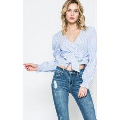 Missguided - Bluzka. Szare bluzki z odkrytymi ramionami marki Missguided, z bawełny, casualowe. W wyprzedaży za 49,90 zł.