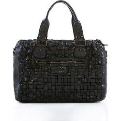 Torebki klasyczne damskie: Skórzana torebka w kolorze czarnym – 36 x 26 x 17 cm