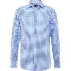 Hackett London GINGHAM DOBBY Koszula blue. Niebieskie koszule męskie na spinki Hackett London, m, z bawełny. Za 589,00 zł.