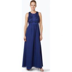 Suddenly Princess - Damska sukienka wieczorowa, niebieski. Niebieskie długie sukienki Suddenly Princess, w koronkowe wzory, z koronki, eleganckie, z długim rękawem. Za 549,95 zł.
