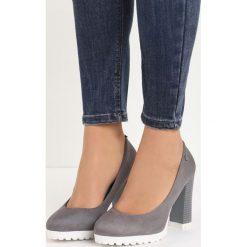 Szare Czółenka The Past. Szare buty ślubne damskie Born2be, na wysokim obcasie, na słupku. Za 69,99 zł.