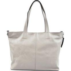 Torebki klasyczne damskie: Skórzane torebka w kolorze szarym – (S)46 x (W)28 x (G)11 cm