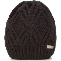 Czapka damska 87-HF-027-1. Czarne czapki zimowe damskie Wittchen, na zimę, z dzianiny. Za 89,00 zł.
