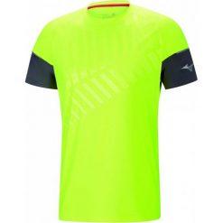 Mizuno T-Shirt Męski Shadow Tee Castlerock/Safety Yellow Xl. Żółte t-shirty męskie marki Mizuno, m. W wyprzedaży za 135,00 zł.