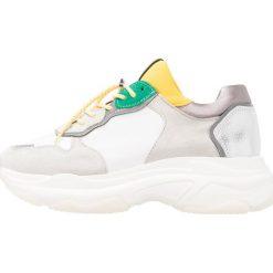 Trampki damskie slip on: Bronx Tenisówki i Trampki white/yellow/silver