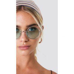 NA-KD Accessories Okrągłe okulary przeciwsłoneczne - Green,Silver. Szare okulary przeciwsłoneczne damskie lenonki marki ORAO. Za 52,95 zł.