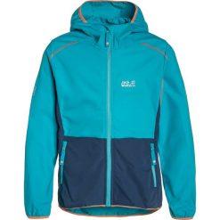 Jack Wolfskin TURBULENCE Kurtka Softshell lake blue. Niebieskie kurtki damskie softshell marki Jack Wolfskin, z materiału. W wyprzedaży za 215,20 zł.