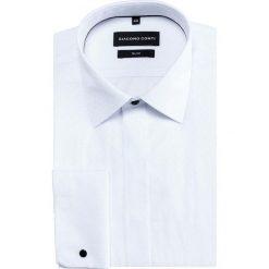 Koszula SIMONE KDBS000349. Białe koszule męskie na spinki marki Giacomo Conti, m, z bawełny, z klasycznym kołnierzykiem. Za 149,00 zł.