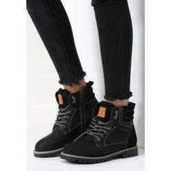 Czarne Traperki Blue Shoes. Brązowe buty zimowe damskie marki vices, z materiału, ze szpiczastym noskiem, na wysokim obcasie, na obcasie. Za 119,99 zł.