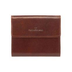 Portfele męskie: Skórzany portfel w kolorze brązowym – (D)10 x (S)11 cm