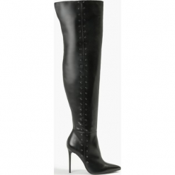 Kozaki czarne Elena. Fioletowe buty zimowe damskie marki Badura. Za 471,99 zł.