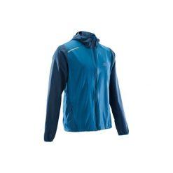 Kurtka do biegania RUN WIND męska. Niebieskie kurtki do biegania męskie marki QUECHUA, m, z elastanu. Za 49,99 zł.