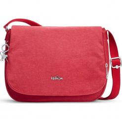 """Torebka """"Earthbeat"""" w kolorze czerwonym - 22,5 x 30 x 10,5 cm. Czerwone torebki klasyczne damskie Kipling, w paski, z materiału. W wyprzedaży za 136,95 zł."""