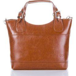 Włoska skórzana damska torba PAOLO PERUZZI SHOPPER BAG. Brązowe shopper bag damskie Paolo Peruzzi, do ręki. Za 259,00 zł.