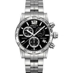 RABAT ZEGAREK CERTINA GENT QUARTZ C027.417.11.057.02. Czarne zegarki męskie CERTINA, ze stali. W wyprzedaży za 2072,40 zł.