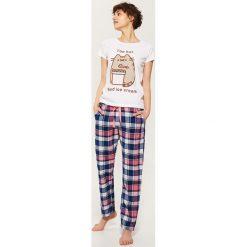 Piżamy damskie: Długie spodnie piżamowe – Wielobarwn