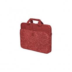 """Continent Torba na notebooka 15.6"""" (czerwony). Czerwone torby na laptopa Continent, w paski, z materiału. Za 71,29 zł."""