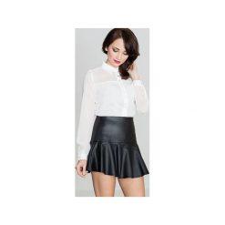 Spódnica K239 Czarny. Czarne spódniczki Lenitif, uniwersalny, mini, rozkloszowane. Za 89,00 zł.