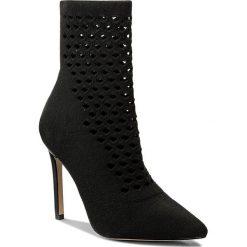 Botki ALDO - Seassi 51926532 98. Czarne buty zimowe damskie ALDO, z materiału, na obcasie. W wyprzedaży za 309,00 zł.