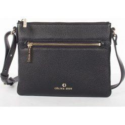 Torebki klasyczne damskie: Skórzana torebka w kolorze czarnym – 20 x 18 x 1 cm