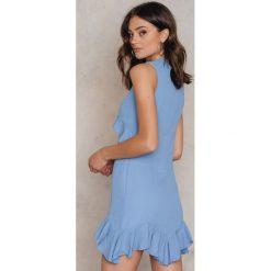 Sukienki: Trendyol Sukienka z falbanami Mavi – Blue