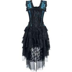 Burleska Ophelie Dress Sukienka czarny/niebieski. Czarne sukienki koronkowe Burleska, xl, w ażurowe wzory, z kwadratowym dekoltem. Za 569,90 zł.