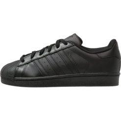 Adidas Originals SUPERSTAR FOUNDATION Tenisówki i Trampki core black. Czarne tenisówki damskie marki adidas Originals, z materiału. Za 399,00 zł.