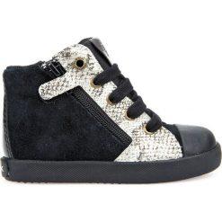 Wysokie buty sportowe Kiwi. Czarne buty sportowe dziewczęce Geox, z materiału, na zamek. Za 302,36 zł.