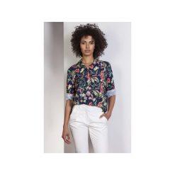 Koszula oversize, K108. Szare koszule wiązane damskie Lanti, z dekoltem na plecach. Za 119,00 zł.
