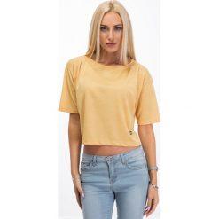 Bluzki damskie: Miodowa krótka bluzka 3359