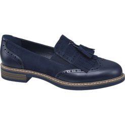Mokasyny damskie Graceland niebieskie. Czarne mokasyny damskie marki Graceland, w kolorowe wzory, z materiału. Za 99,90 zł.