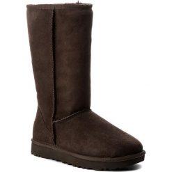 Buty UGG - W Classic Tall II 1016224 W Cho. Szare buty zimowe damskie marki Ugg, z materiału, z okrągłym noskiem. Za 1199,00 zł.