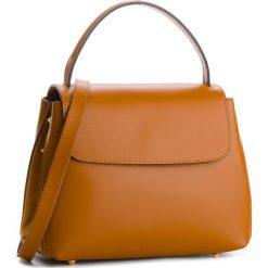 Torebka CREOLE - K10520  Koniak. Brązowe torebki klasyczne damskie Creole, ze skóry. W wyprzedaży za 209,00 zł.