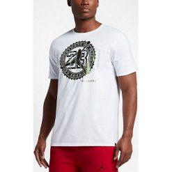 Nike Koszulka męska Jordan Pure Money Bank Note biała r. S (844290-100). Białe t-shirty męskie Nike, m. Za 115,42 zł.
