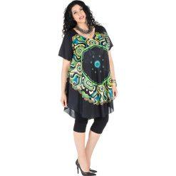 Sukienki: Sukienka w kolorze zielono-czarnym