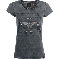 Bluzki damskie: Wonder Woman Be A Warrior Koszulka damska ciemnoszary (Anthracite)