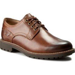 Półbuty CLARKS - Montacute Hall 203510857 Dark Tan Leather. Brązowe półbuty skórzane męskie marki Clarks, na sznurówki. W wyprzedaży za 289,00 zł.