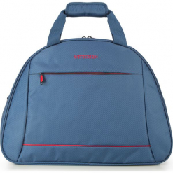 Torba podróżna 56-3S-465-90. Niebieskie torebki klasyczne damskie Wittchen, w paski, z materiału. Za 119,00 zł.