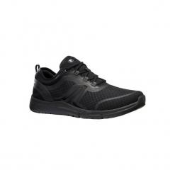 Buty męskie do szybkiego marszu Soft 540 Mesh full czarne. Czarne buty fitness męskie marki NEWFEEL, z gumy. Za 129,99 zł.