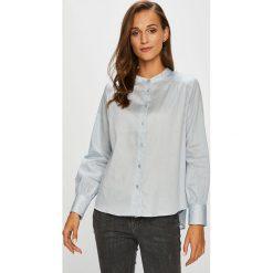 Jacqueline de Yong - Koszula. Szare koszule wiązane damskie Jacqueline de Yong, z bawełny, casualowe, z długim rękawem. W wyprzedaży za 89,90 zł.