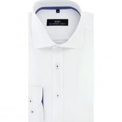 Koszula RICCARDO 16-04-11. Niebieskie koszule męskie na spinki marki bonprix, m, z nadrukiem, z klasycznym kołnierzykiem, z długim rękawem. Za 199,00 zł.