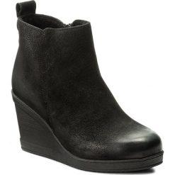 Botki LASOCKI - WI16-TRANI-01 Czarny. Czarne buty zimowe damskie Lasocki, z nubiku, na obcasie. Za 199,99 zł.