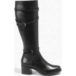 Kozaki czarne Natea. Fioletowe buty zimowe damskie marki Badura. Za 429,99 zł.